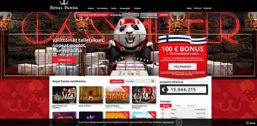 Panda Casinolla vedonlyönti ja varmasti alan sympaattisin logo. Vedonlyöntisivut joissa pika vedonlyönti ja Trustly pay n play pikakotiutus
