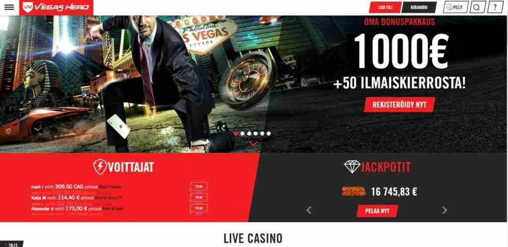 Vegas Heron kovat bonukset odottavat lunastusta. Tässä nettikasino jossa, livekasino, isot bonukset ja nopeat kotiutukset!