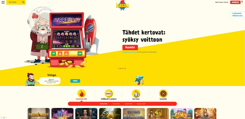 Trustlyn PayN Play palvelulla toimiva Kassu pika Kasino tarjoaa pikakotiutukset. Paynplay kasinot ja livekasinot ovat käteviä pelata ja käyttää täällä.